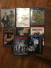 All 8 excellent condition DVD  Rosemead, 91776