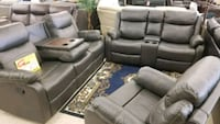 gray leather home theater sofa North Fort Myers, 33903