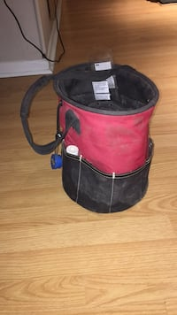 red and black leather bag 549 km