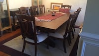 rectangular brown wooden table with six chairs dining set Ashburn, 20147