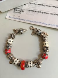 silver and red beaded bracelet Yonkers, 10704
