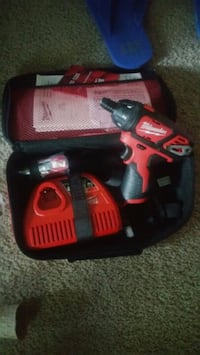 red and black Milwaukee cordless drill Charlotte, 28212