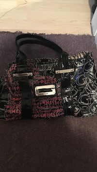 black and pink Juicy Couture tote bag