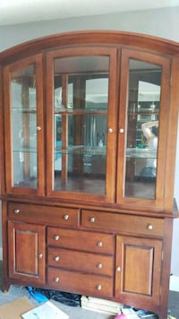 brown wooden framed glass display cabinet Miami, 33174