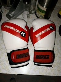 pair of white-and-red Everlast boxing gloves Edmonton, T6A 0C1