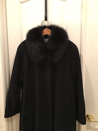 BLACK COAT FORECASTER WITH AUTHENTIC FOX COLLAR