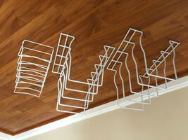 Counter dish rack for plates