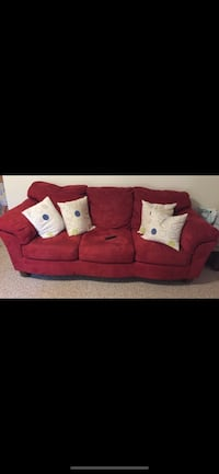 red fabric 3-seat sofa Alexandria, 22315