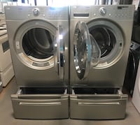 LG front load washer and dryer set 90 days warranty