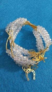 Clear crystal beads bracelets 14k gold plated Woodbridge, 22193