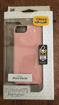 pink and black OtterBox Symmetry iPhone 5/5s/SE case