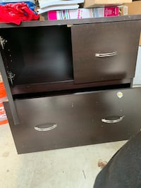 black wooden 2-drawer chest 41 km