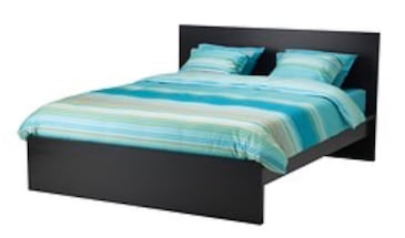 MALM Double Bed Frame and Mattress