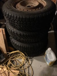 Four black car tires set Prince Edward