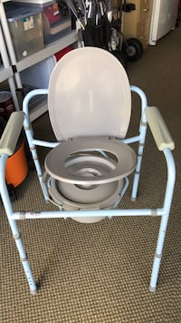 white and gray commode chair North Port, 34292
