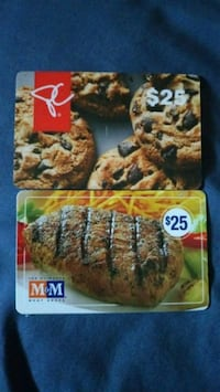President's Choice and M&M meat shop gift cards Niagara Falls