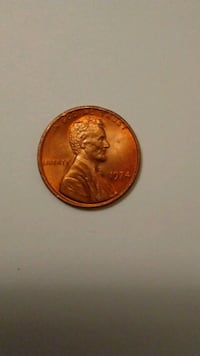 1974 Lincoln cent Red color tone