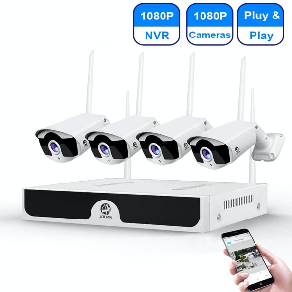 Wireless 4 Security Camera System HD 1080p New Sealed Box !