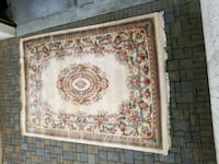 white and pink floral real wool carpet Ridgefield, 07657