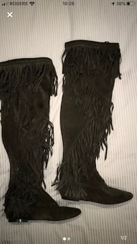 Brown suede knee high boots Toronto, M8V