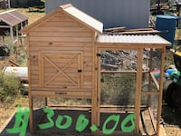 "Chicken coop $300. Chicken coop $200. LED light bar$120. Feeders various prices. Black 78gal. combo tank $400. White 100 gal tank $250. Muscle rack heavy duty shelves $50 each I have 8. Electric smoker $130. 48"" underbody toolbox $200. Midland, 79706"