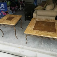 Stone Marble Coffee Table and End Table
