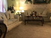 Sofa ,loveseat, end tables and lamps