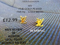 pair gold louis vuitton stud earrings Ahmedabad, 380024