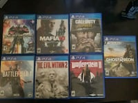 six assorted PS4 game cases Bakersfield, 93306
