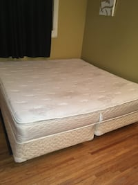 White and gray floral mattress Calgary, T2A 2C6