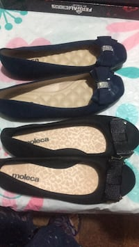 pair of black leather flats Arlington, 22203