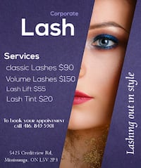 Salon Based: Beauty services Mississauga