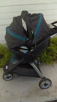 baby's black and blue stroller Riverside, 92503