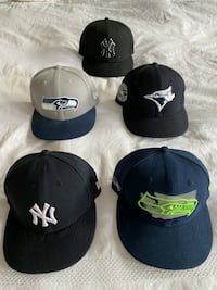 Snap backs , fitted hats