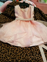 3-6 months Pink formal dress w/silver shoes South Bend, 46619