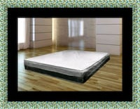 Singlesided pillowtop mattress with box spring 42 km