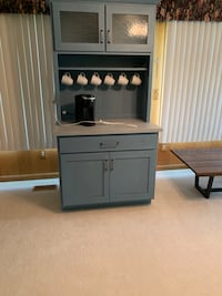 Coffee stand cabinet with soft closing doors. Keurig and cups included Romulus, 48174