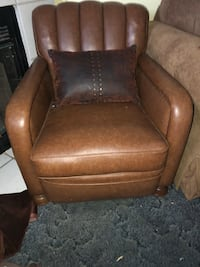 2 Brown leather sofas chair Duncanville