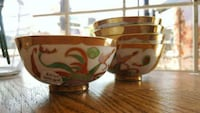 5 24 k gold-and-white ceramic bowls  Vancouver, V5T 1W5