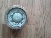 brown compass solid brass