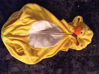 toddler's yellow and white duck costume