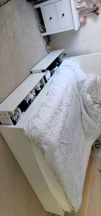 Ikea white king size bed