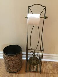 Iron toilet paper holder and waste basket  Holland Landing, L9N 1R9