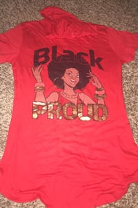 Red Black and proud shirt NEGOTIABLE Gaithersburg, 20878
