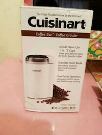 New in box Cuisinart 12 cup white coffee grinder 2315 mi