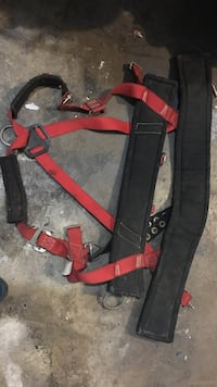 Tree climbing safety harness