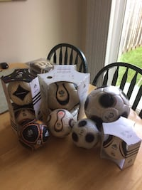 Assorted replica soccer balls  MISSISSAUGA