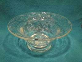 Controlled Bubble Glass Pedestal Bowl