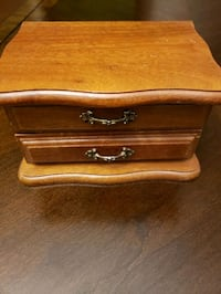 "Wooden Jewelry Box in Walnut Finish, 7""×4"" Indianapolis, 46221"