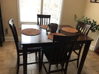 Rectangular brown wooden table with four chairs dining set- price reduced! Stockbridge, 30281